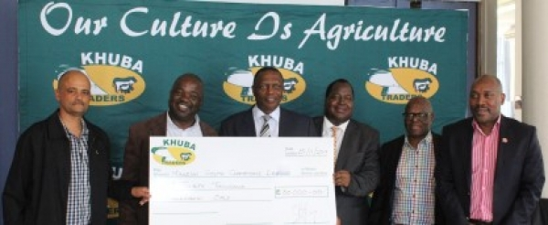 KHUBA TRADERS PLOUGH BACK E30 000 TO THE MANZINI SOUTH FOOTBALL COMPETITION