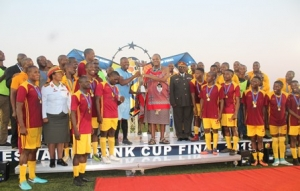 EFA ACKNOWLEDGES THE PRESENCE OF HIS MAJESTY THE KING MSWATI III DURING THE ESWATINI BANK FINALS