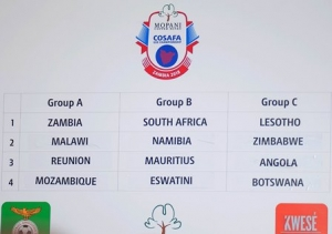 THE U20 NATIONAL TEAM IN GROUP B OF THE 2018 COSAFA CHAMPIONSHIPS