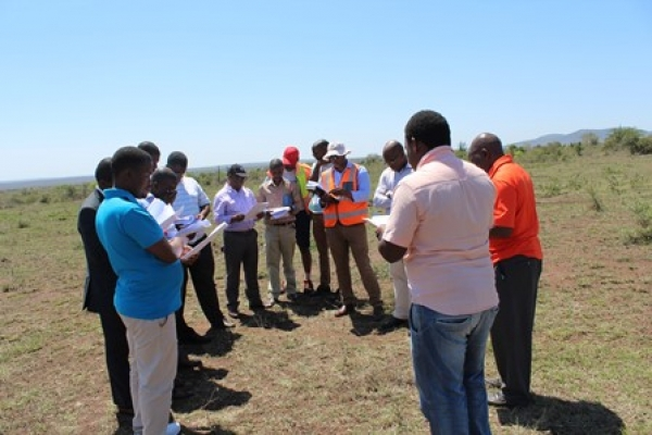 OFFICIAL SITE HANDOVER FOR THE EXECUTION OF THE FIFA GOAL PROJECT IV AT KALANGA